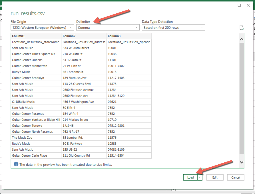 My CSV/Excel file is formatted incorrectly – ParseHub Help