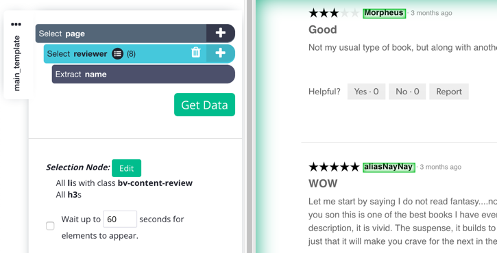 Scrape data about reviews and ratings – ParseHub Help Center