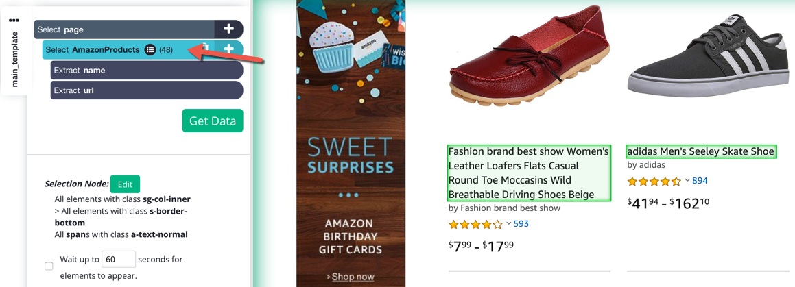 Scrape two eCommerce websites in one project [Amazon and
