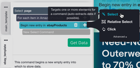 Scrape Two Ecommerce Websites In One Project Amazon And Ebay Examples Parsehub Help Center