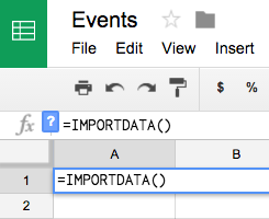 Import data into Google Sheets – ParseHub Help Center